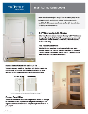Fire door tearsheet