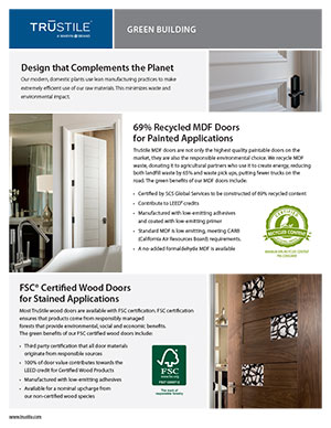 Green building tearsheet