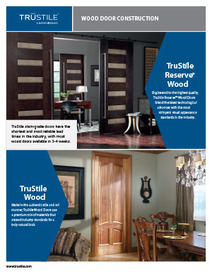 Wood door construction tearsheet