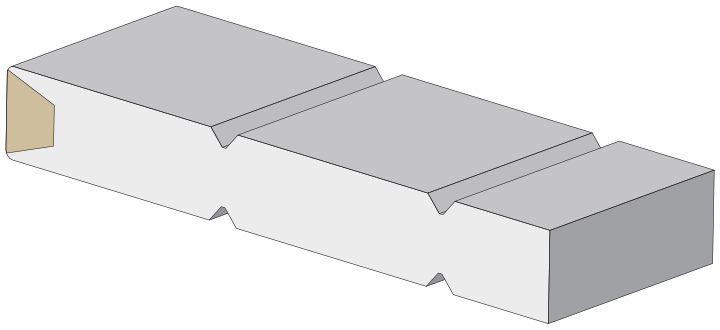Wide V-groove profile