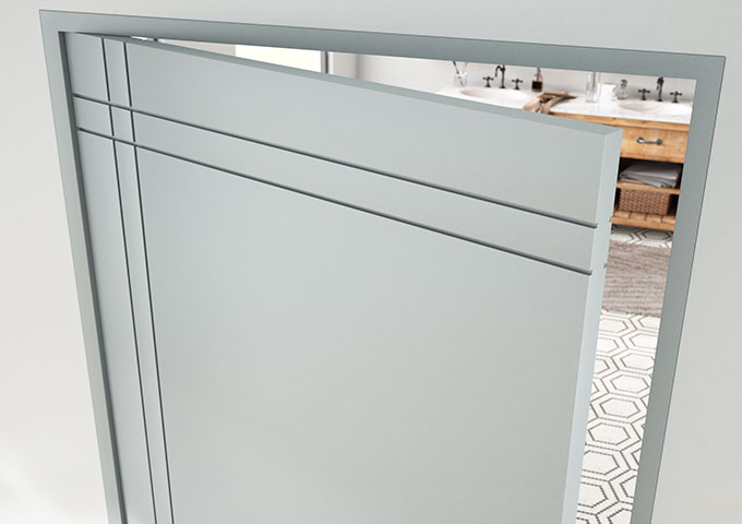 Detail of TMIR4020 door in MDF