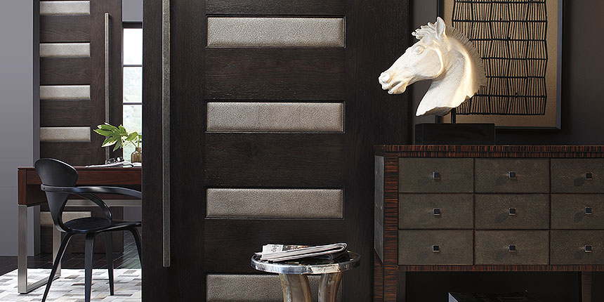 detail of TM6100 barn doors