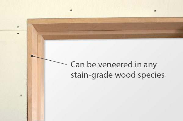 Fire-rated jambs can be veneered in any stain-grade wood species. Adjustable clip anchors ensure ease of installation.
