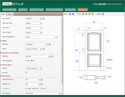 Trucad door design tool allows complete customization for Door design tool
