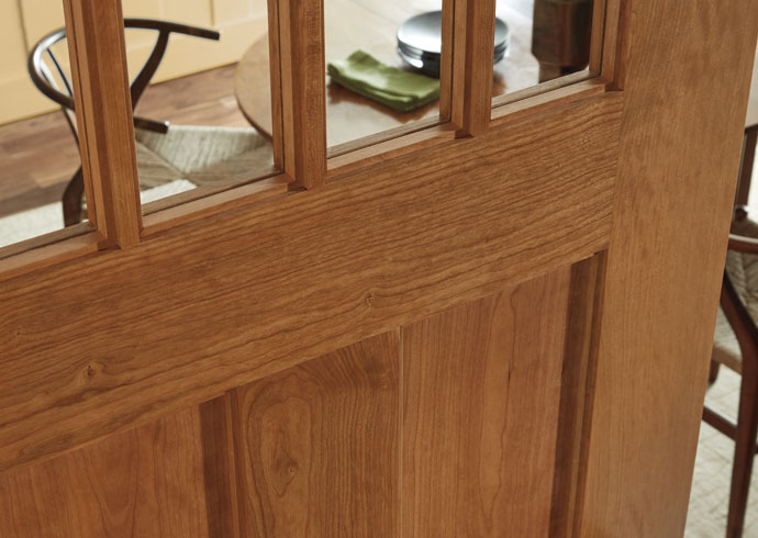 Glass interior door (wood with clear glass)