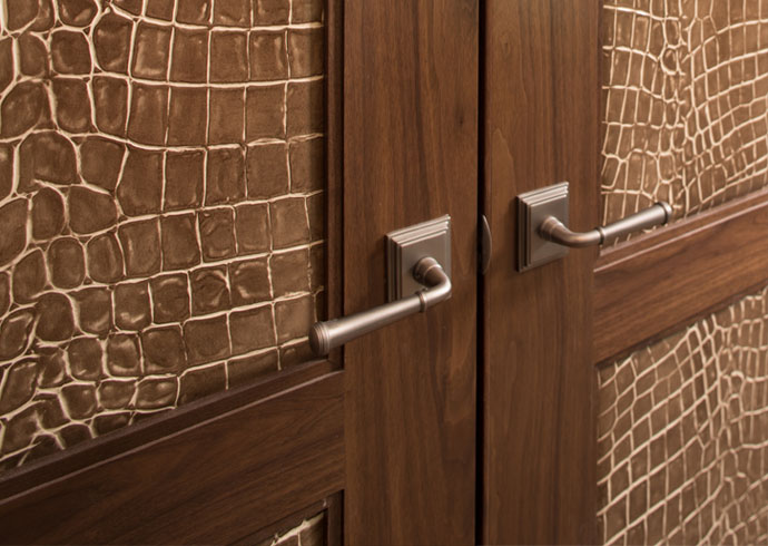 Substitute leather for panels on interior doors
