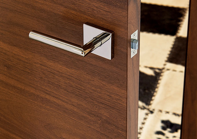 Wood interior door (walnut with Nutmeg stain finish)