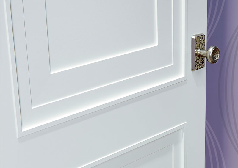 detail of TS2060 stile and rail door in MDF