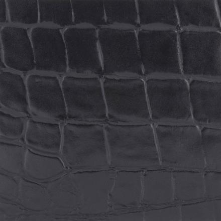 Edelman® Croc Black Leather