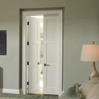 Pair of TS3000 doors in MDF with One Step (OS) sticking and Raised (A) panel.