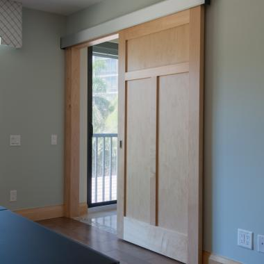 TS3240 barn door in maple