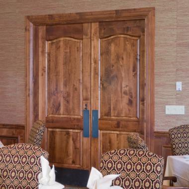 Pair of TS2040 doors in select alder with Roman Ogee (OG) sticking and raised (A) panel.