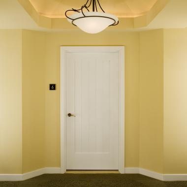 VG1010 fire-rated door in MDF