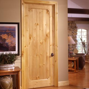 VG1020 in knotty pine with square stick (SS) sticking and v-groove (VG) panel