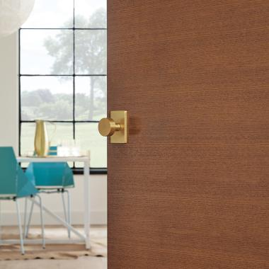 Detail of TMF1000 flush door in rift sawn white oak with Hazelnut stain
