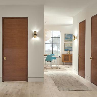 TMF1000 flush doors in rift sawn white oak with Hazelnut stain