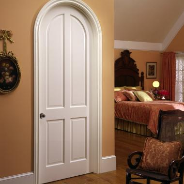 Victorian style, radius-top TS4070 in MDF with Roman ogee (OG) sticking and raised (A) panel.