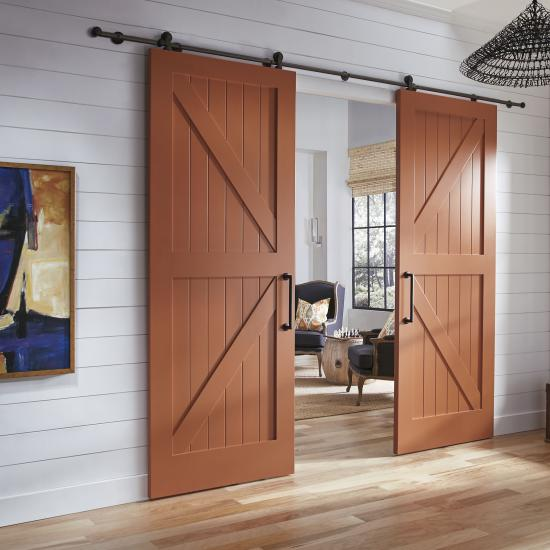 Pair of VG4030 barn doors in MDF