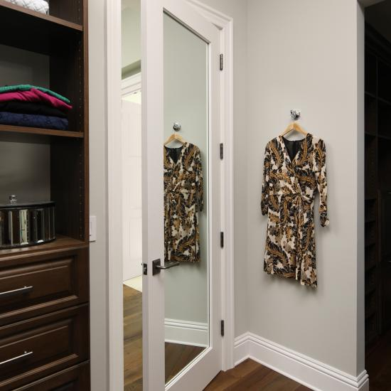 TS3000 door in MDF with inset mirror (shown)