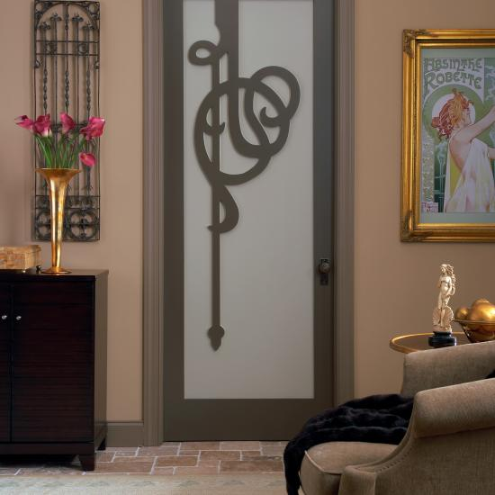 The intricate fretwork of this AD1060 enhances the Art Nouveau feel of this room.