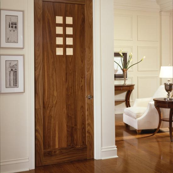 This sophisticated Art Deco room features an AD1010 in walnut with maple accents.