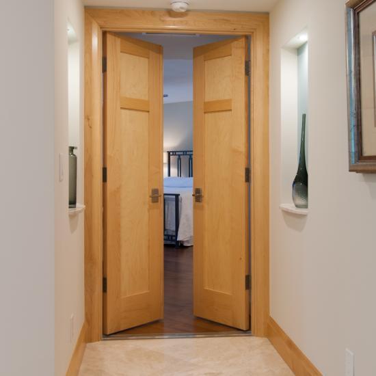 Bedroom Suite Entry. Pair Of TS2240 Doors In Maple.