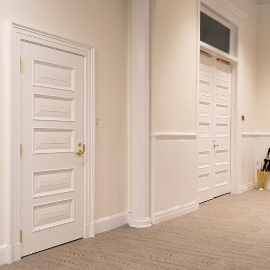 Custom MDF doors with Bolection (BM) moulding and Senior Raised (E) panel.