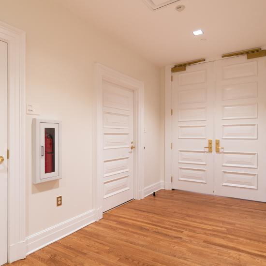Custom multi-panel doors in MDF with Bolection Moulding (BM) and Senior Raised (E) panel.
