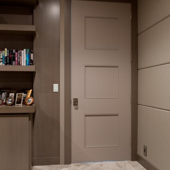 TM3100 in MDF with Quirk (QM) moulding and Flat (C) panel.