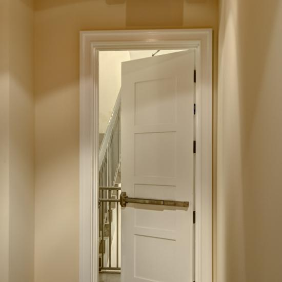 The TM4000 fire doors in this condominium building match the doors in each residence.