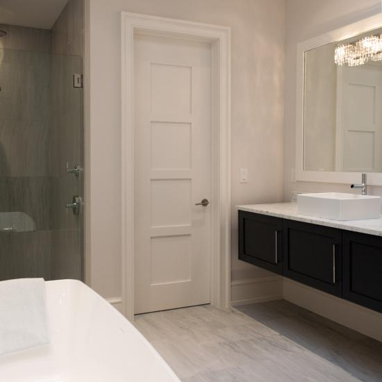 Bathroom featuring TM4000 with wide stiles in MDF