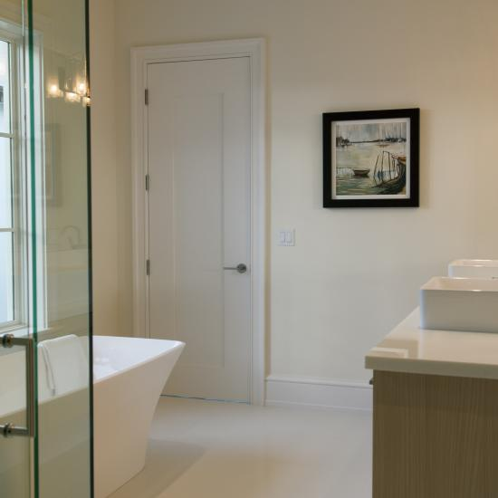 Bathroom featuring TM1000 with wide stiles in MDF