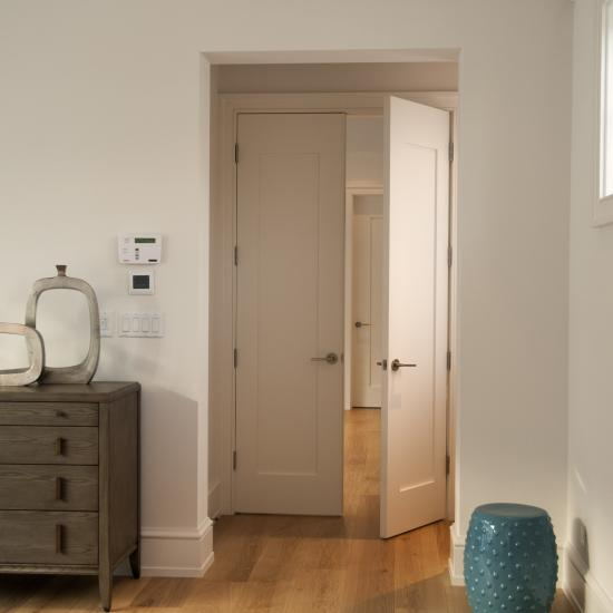 Pair of TM1000 bedroom doors in MDF with wide stiles