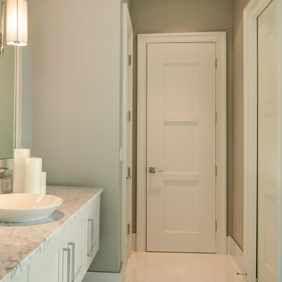 Bathroom featuring TM3000 with wide stiles in MDF