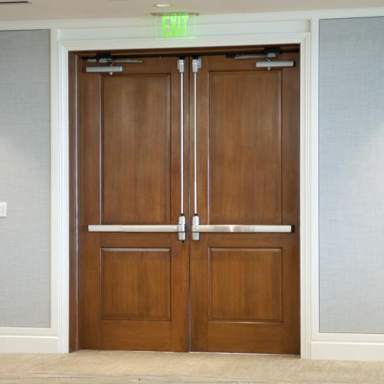 TS2020 mahogany doors were used for the remodelling of this hotel ballroom.