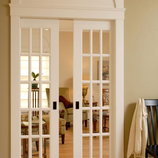 Pair of FL1500 pocket doors with Roman ogee (OG) sash