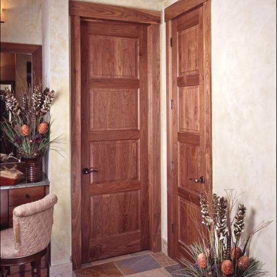 Two TS4100 doors in walnut with Roman ogee (OG) sticking and raised (A) panel.