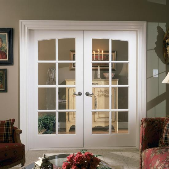 FL830 common arch pair in MDF with clear glass and Roman ogee (OG) sash.