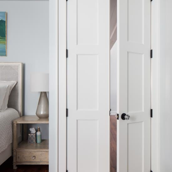 Pair of TS3000 doors in MDF with One Step (OS) sticking and Flat (C) panel.