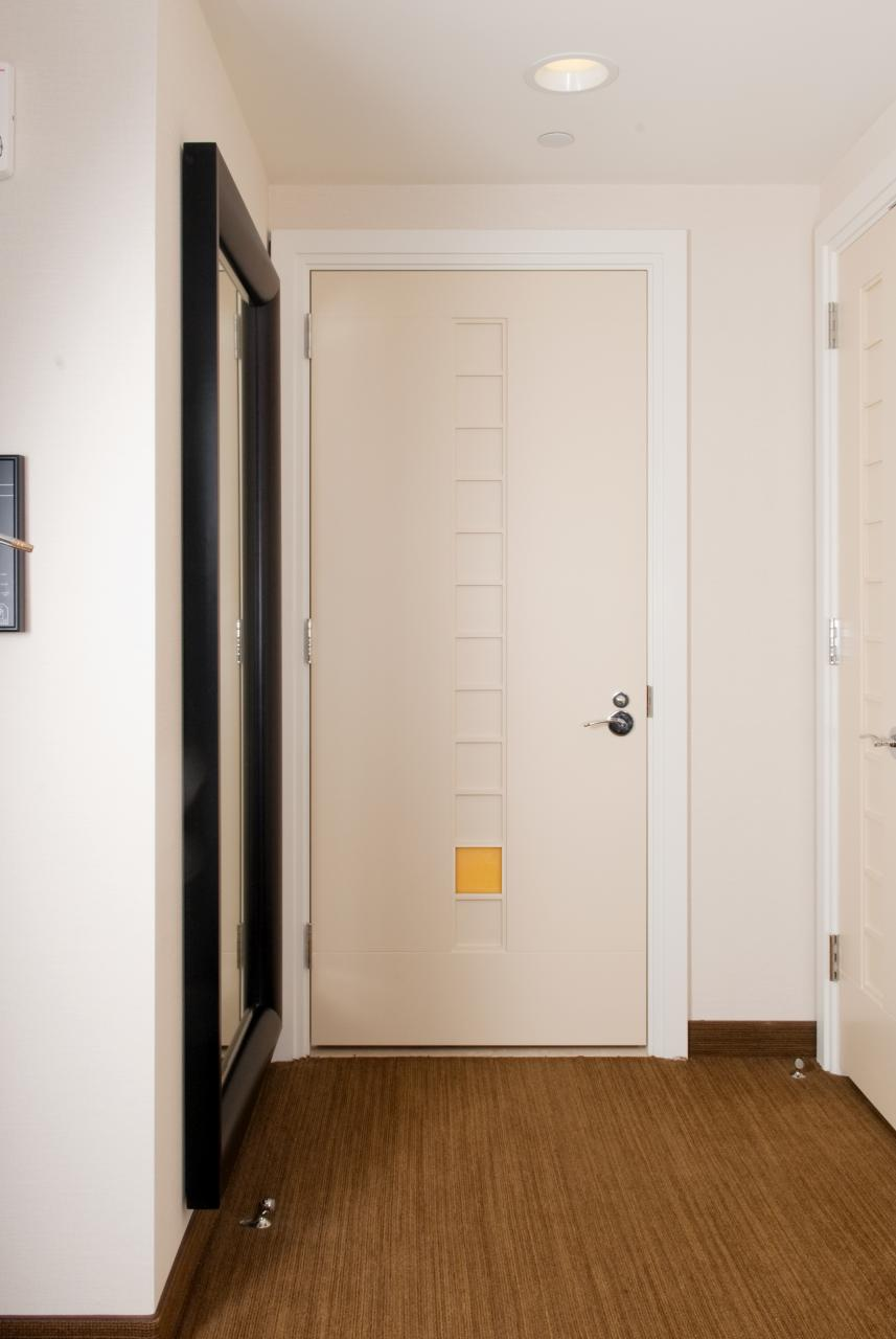 Custom flush door with ladder insert trustile doors for Trustile doors cost
