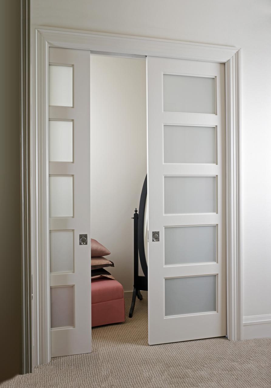 Ts5000 Pocket Doors With White Lami Glass Trustile Doors