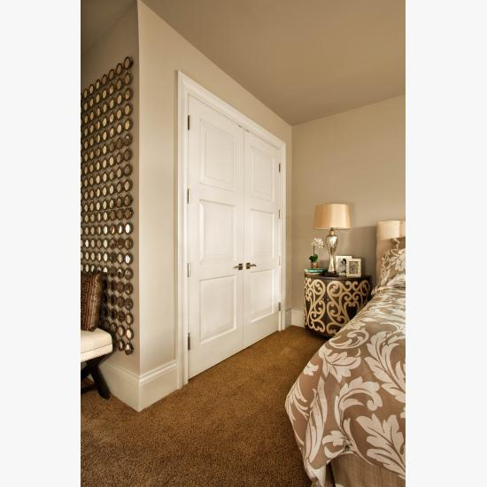 TS3000 closet doors in MDF with Traditional (TR) sticking and senior raised (E) panel.