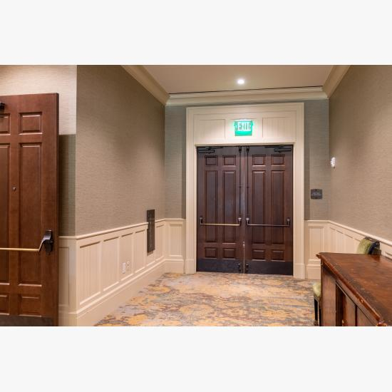 Pair of TS6050 doors in maple with Roman Ogee (OG) sticking and Scoop (B) bladder-pressed panel.