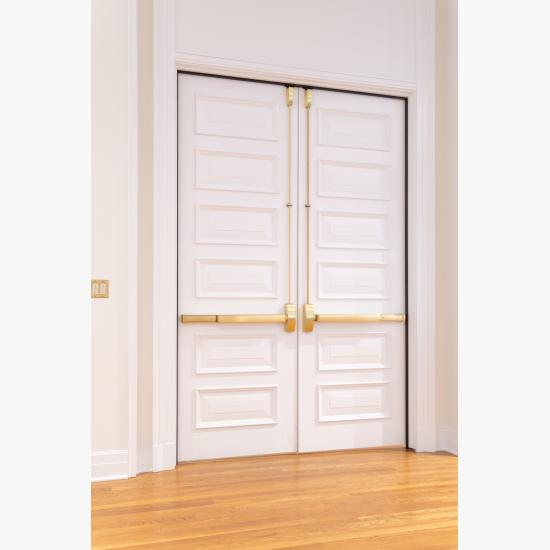 Custom 6-panel doors in MDF with Bolection Moulding (BM) and Senior Raised (E) panel.