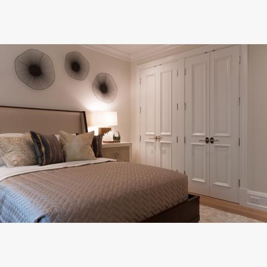 TS4000 closet doors in MDF with Big Bolection (BBM) moulding and Scoop (B) panel.