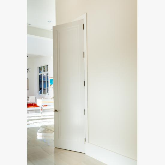 This home features 10' tall TS1000 doors in MDF with Miracle (MR) moulding and Flat (C) panel.
